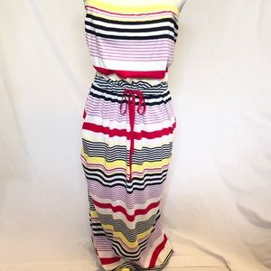 Tommy Hilfiger striped maxi dress size XL